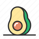 avocado, fresh, fruit, grocery icon