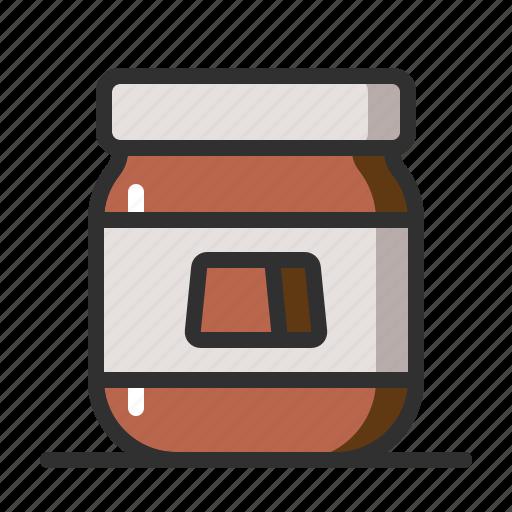 Bread, chocolate, jam, jar icon - Download on Iconfinder
