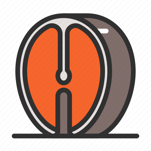 Fish, food, half, salmon icon - Download on Iconfinder