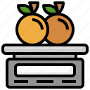 weighing, scale, weight, watermelon, food, and, restaurant