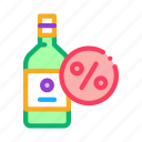 alcohol, bar, bottle, drink, glass, restaurant icon