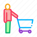business, cart, customer, delivery, retail, sale, shop icon