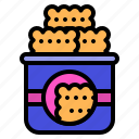 bag, cracker, grocery, shop, snacke icon