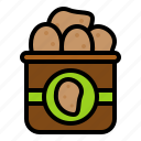 bag, food, grocery, potato, shop icon