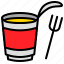 cup, fork, grocery, instant noodles, shop icon