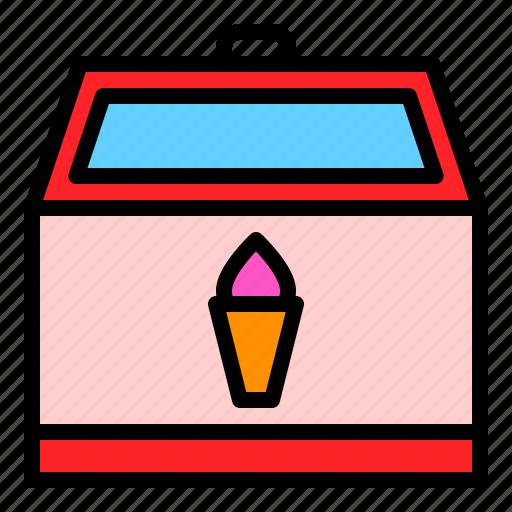 fridge, grocery, ice cream, refrigerator, shop icon