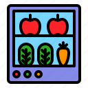 fridge, fruit, grocery, refrigerator, shop, vegetable icon