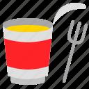cup, food, fork, grocery, instant noodles, shop