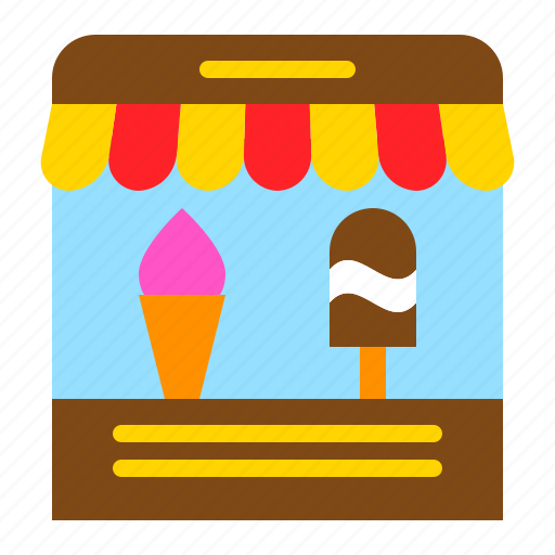 food, grocery, ice cream, ice cream parlor, shop, store, sweets icon