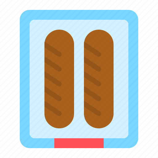 food, grocery, junk food, meat, sausage, shop icon