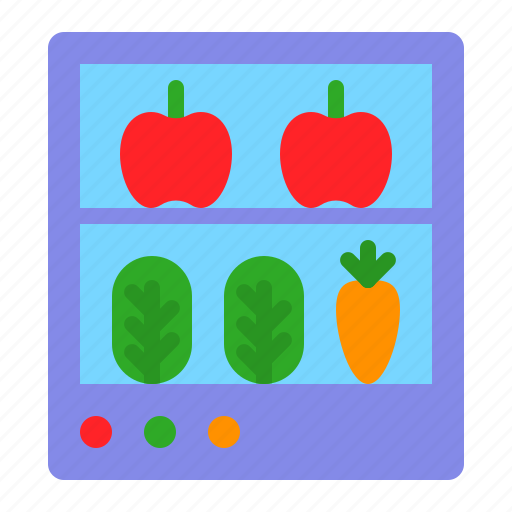 food, fridge, fruit, grocery, refrigerator, shop, vegetable icon