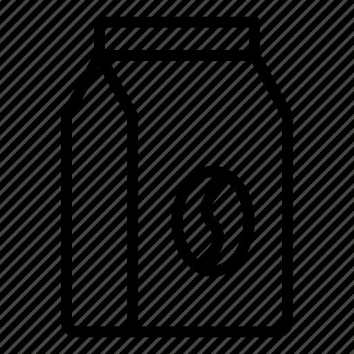 bag, coffee, coffee bean, food, grocery icon