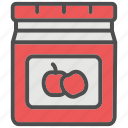 apple, food, grocery, jam, shopping, supermarket, sweet icon