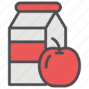 apple, beverage, drink, grocery, juice, shopping, supermarket icon