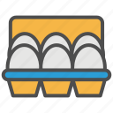 chicken, egg, grocery, retail, shopping, supermarket, tray icon