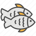 cooking, fish, food, grocery, seafood, shopping, supermarket icon