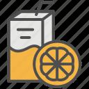 drink, grocery, juice, orange, shopping, supermarket icon