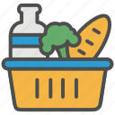 basket, food, grocery, retail, shopping, supermarket, vegetable icon