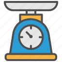 baking, cake, grocery, scale, shopping, supermarket, weighing icon