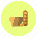 bake, bakery, bread, toast icon
