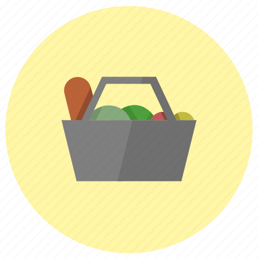 bag, basket, cart, checkout, grocecry, shopping icon