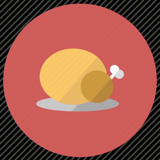 chicken, meat, turkey icon