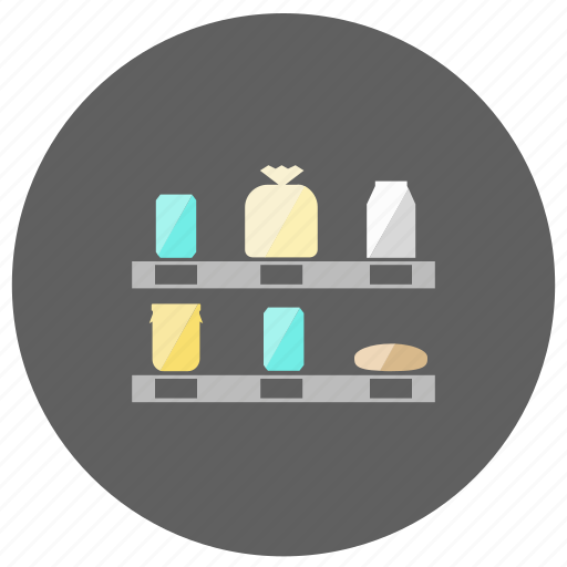 grocery, rack, shop icon