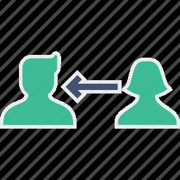avatar, communicate, communication, connect, oneway, people, talk icon