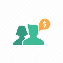 avatar, discussion, group, money, people, strategy, think icon