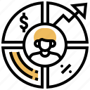 analysis, business, customer, marketing, statistics icon