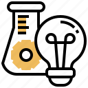 execute, experiment, operate, plan, research icon