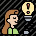 failure, learn, lesson, mistake, solution icon