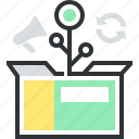 box, grow, growth, market, plant, product icon