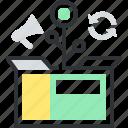 box, grow, growth, market, plant, product