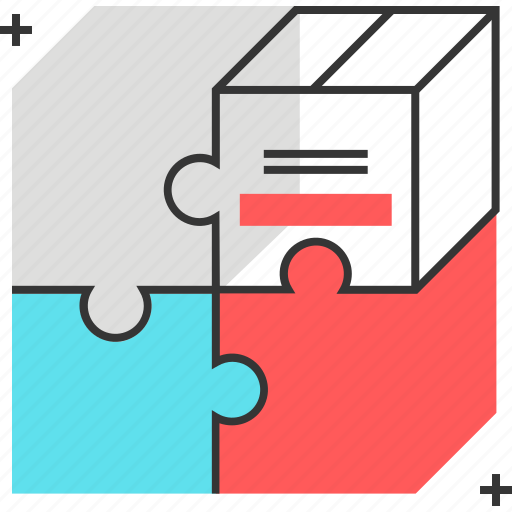 box, fit, jigsaw, market, marketing, puzzle, solve icon