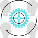 customer, gear, marketing, resources, retention icon