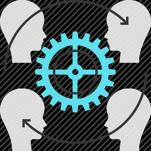 customer, gear, marketing, resources, retention icon