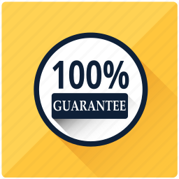 approve, emblem, guarantee, hundred percent, safe, satisfaction, warranty icon