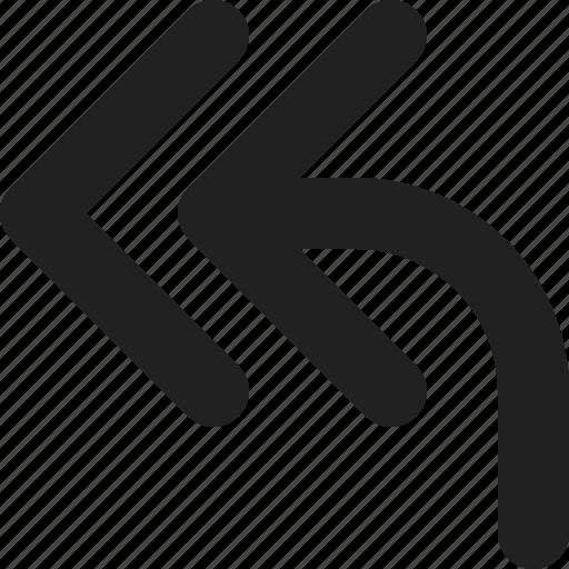 arrow, arrows, back, direction, left, previous, rewind icon