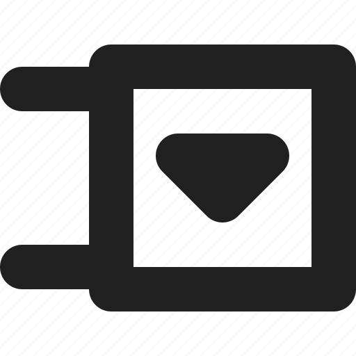 arrow, direction, down, expand, list, menu icon