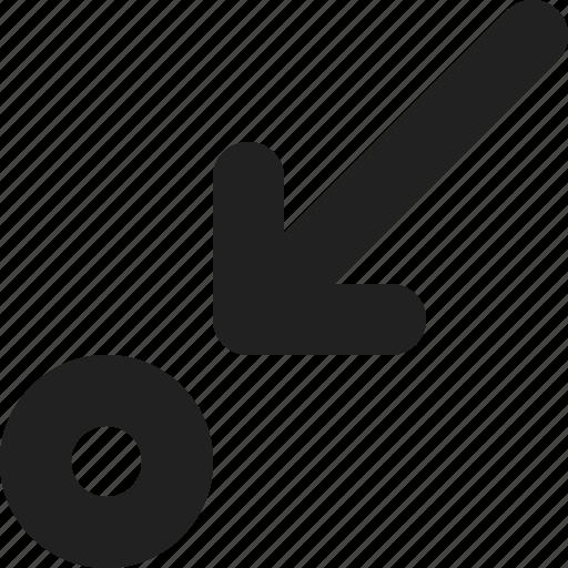 arrow, interest, navigation, pin, poi, point, pointer icon