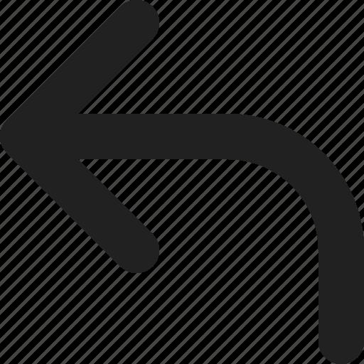 arrow, direction, left, navigation, previous, undo icon