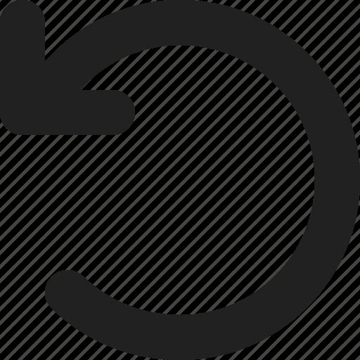 arrow, arrows, direction, left, rotate, undo icon