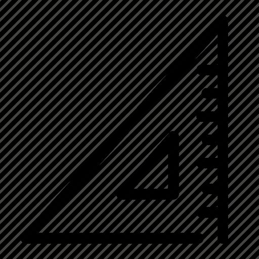 math, measurement, ruller, square, triangle icon