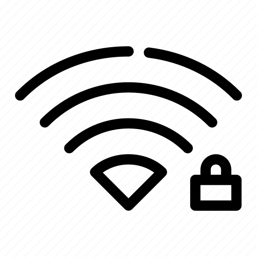 locked, password, privacy, secured, wifi icon