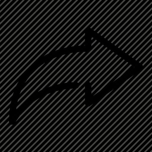 arrow, forward, go, reply, right icon