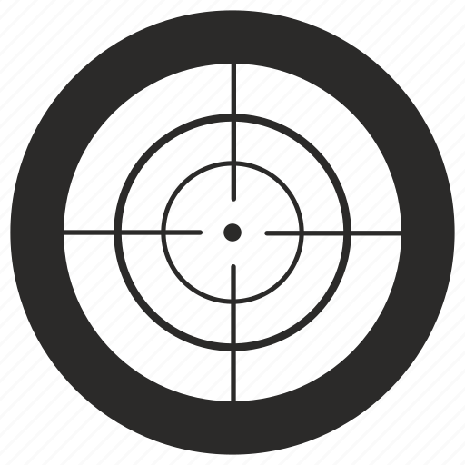 aim, gun, sniper, target icon