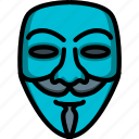 anonymous, fawkes, firework, guy, mask, night icon