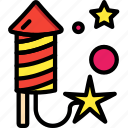 colours, explosion, firework, light, rocket icon