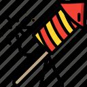colours, display, explosion, firework, light, rocket icon